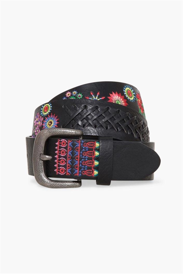 pásek Desigual Cint Basic Flor Mex negro