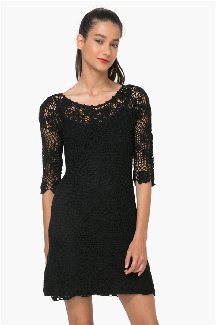 0f6bf66d45 šaty Desigual Sara 1 negro velikost  S