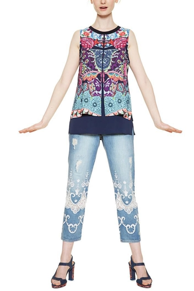 halenka Desigual Blus Magic navy