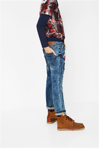 jeansy Desigual Parches jeans
