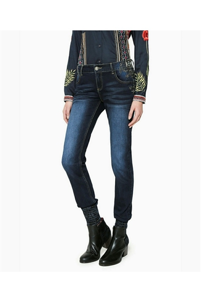 jeansy Desigual Brownie denim dark blue e3568cb260