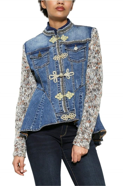 bunda Desigual Exotic denim medium dark