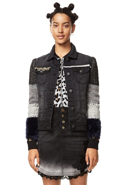 bunda Desigual Exotic Black black denim
