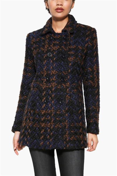 bunda Desigual Coat navy