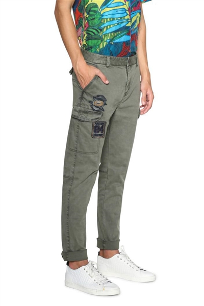kalhoty Desigual Stanley willow green