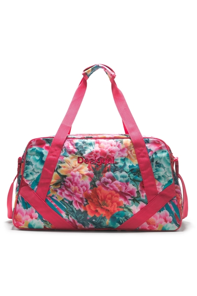 taška Desigual Gym Bag Carry Tropic turquesa
