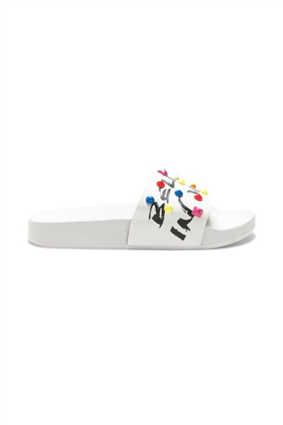 pantofle Desigual Slide Candy blanco