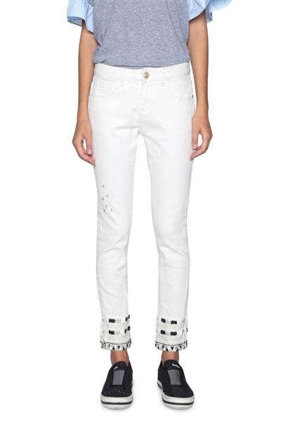 jeansy Desigual Denim Luna jeans white 1e89e48404e