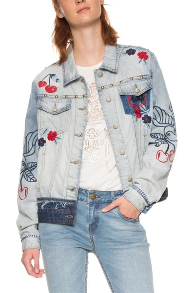 bunda Desigual Eileen denim light wash