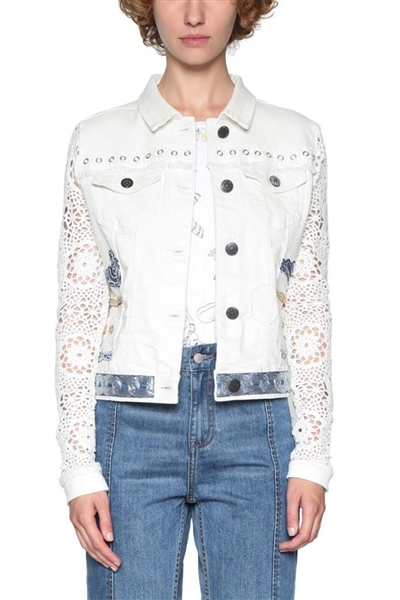 99fe3417504c bunda Desigual Andra jeans white