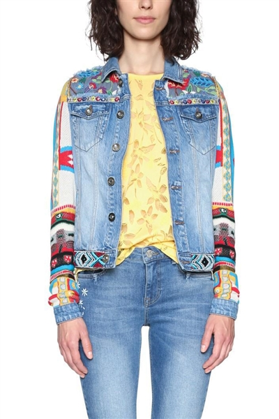 bunda Desigual Fiorel denim medium light