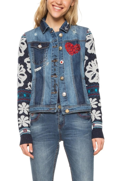 bunda Desigual Gaelle denim patch