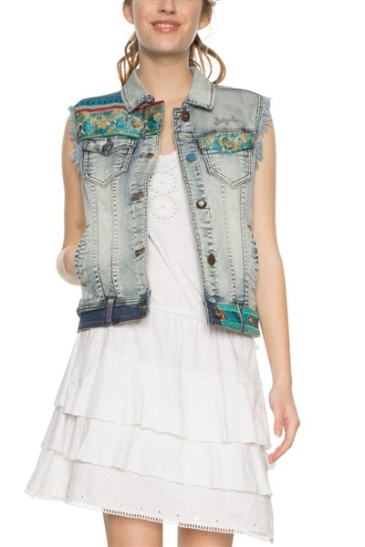bunda Desigual Agnese denim medium dark