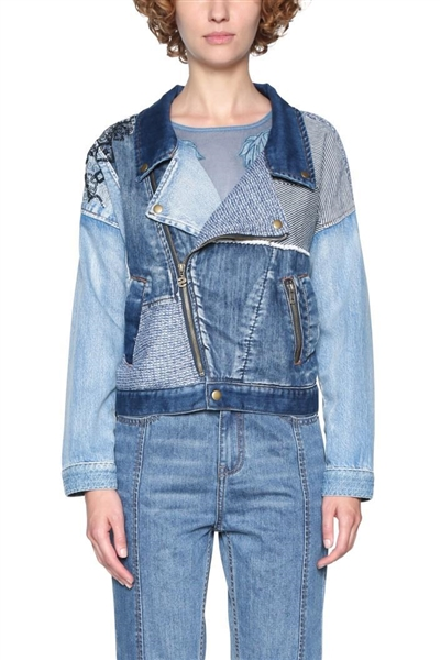 bunda Desigual Émi denim patch