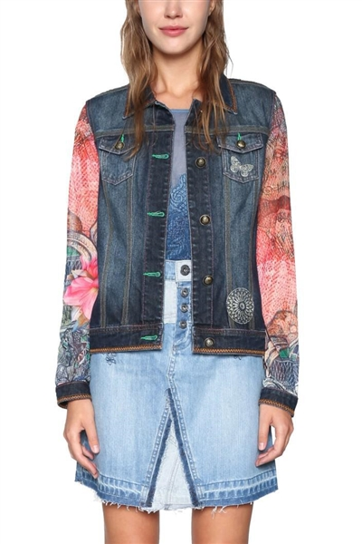 bunda Desigual Audrey denim dark blue