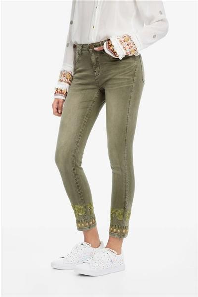 jeansy Desigual Petricor musgo 9b35082e971