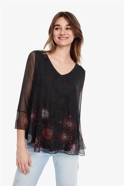 tričko Desigual Brulé negro 0e75d2ddfc2