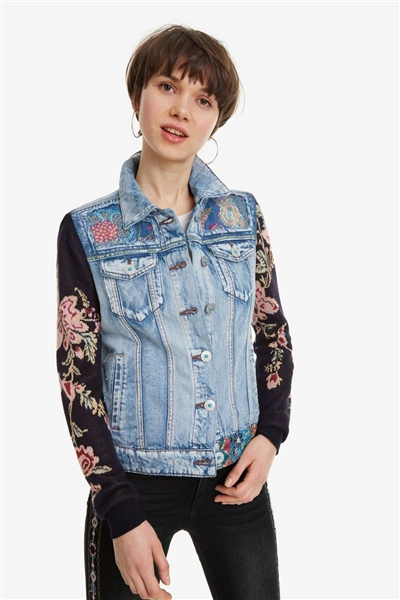 bunda Desigual Mexican Classic denim medium light