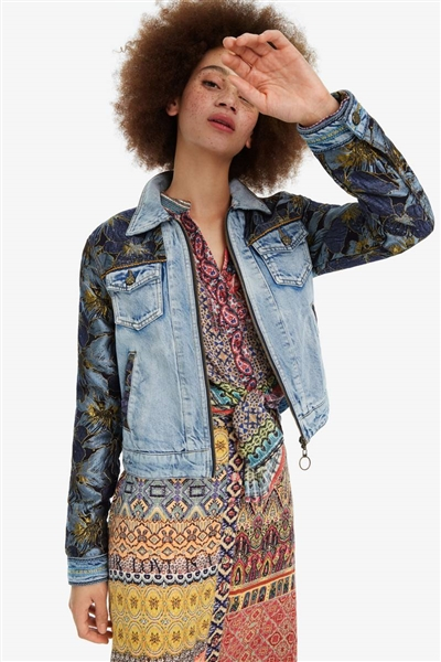 bunda Desigual Sunset denim light wash