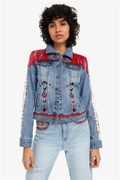bunda Desigual Butterfly denim medium light