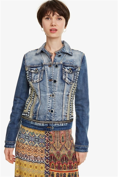 bunda Desigual Parlermo denim medium wash