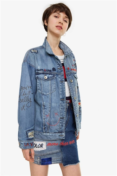 bunda Desigual Yes Jacket denim medium light