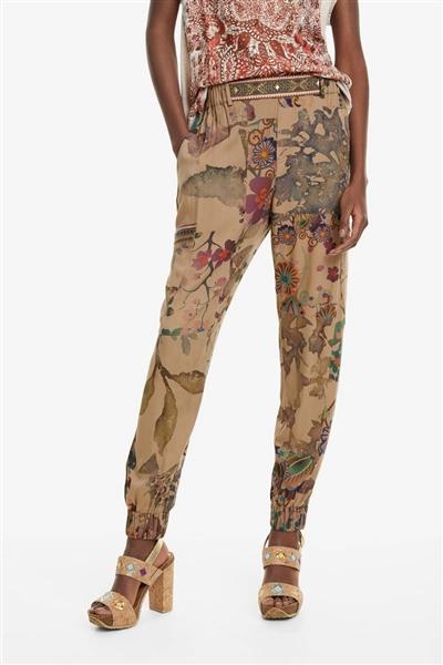 kalhoty Desigual Claris kaki d3e812a1a0c