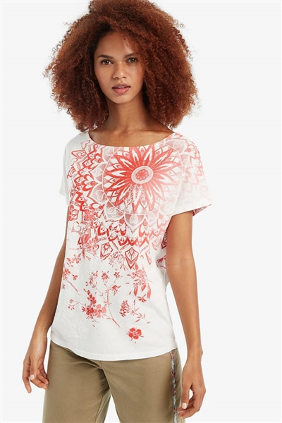 bunda Desigual Blooming burnt coral