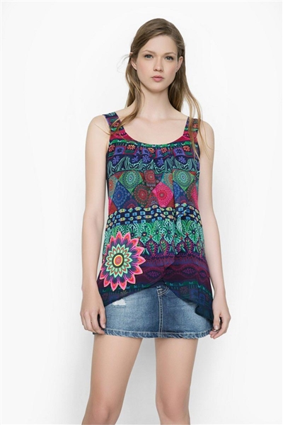 blůza Desigual Blus Magic Rep navy