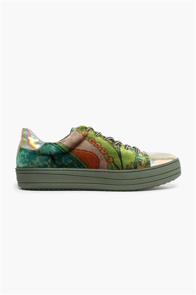 obuv Desigual Floral Funky dusty olive