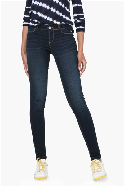 jeany Desigual Denim 2Nd Skin denim dark blue
