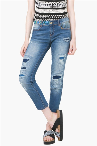 denim Desigual Deni denim destroy medium