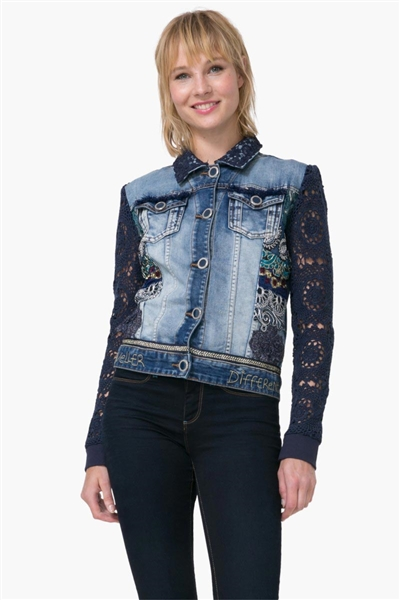 bunda Desigual Chaq Exotic denim medium wash