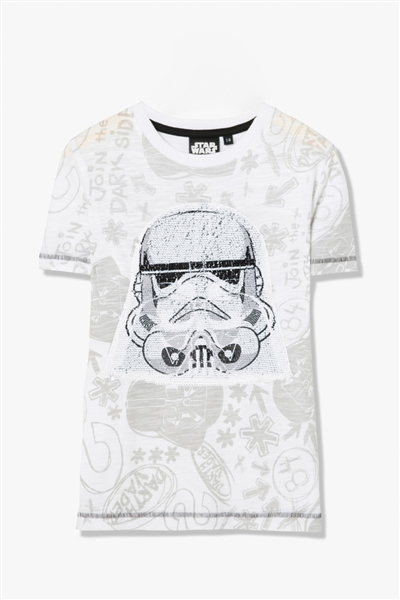 tričko Desigual Trooper Rep blanco